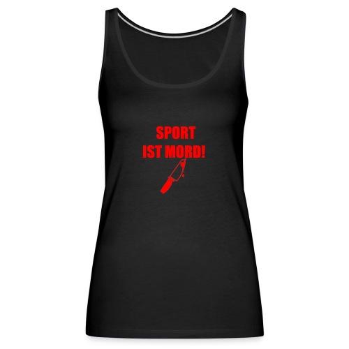 Sport ist Mord rot - Frauen Premium Tank Top