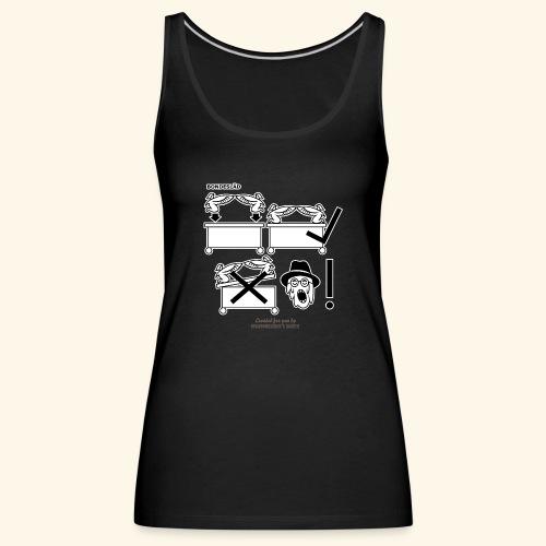 Film Geek T Shirt Design Bondesläd - Frauen Premium Tank Top