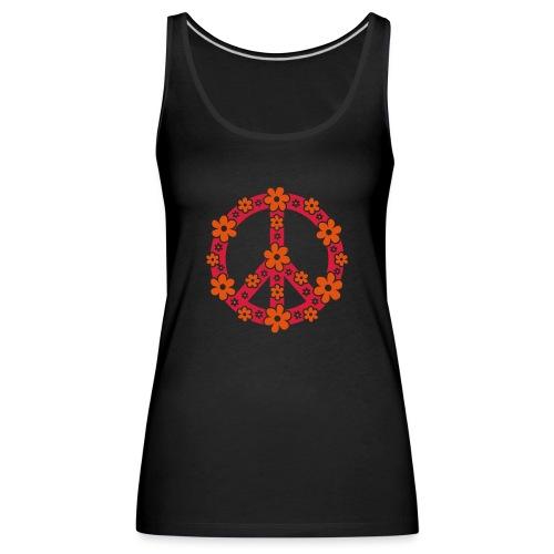 Peace Frieden Symbol Hippie Sommer Freiheit Liebe - Frauen Premium Tank Top
