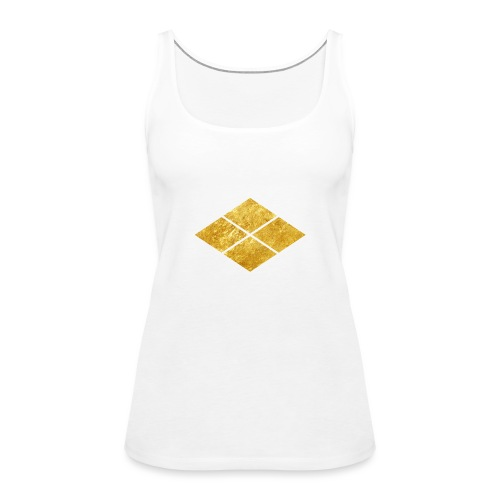 Takeda kamon Japanese samurai clan faux gold - Women's Premium Tank Top