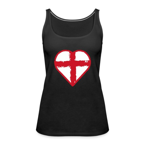 Heart St George England flag - Women's Premium Tank Top