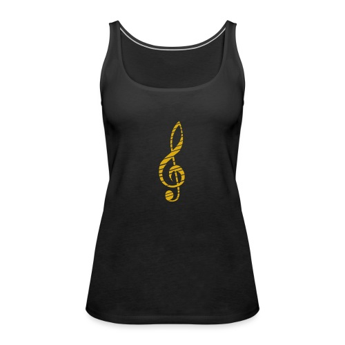 Goldenes Musik Schlüssel Symbol Chopped Up - Women's Premium Tank Top