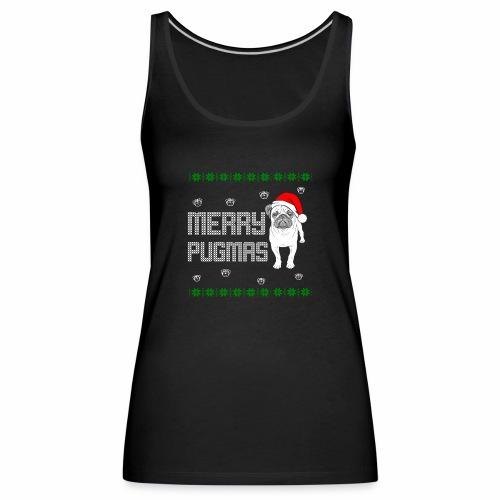 Merry Pugmas - Frauen Premium Tank Top