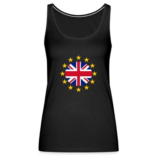 EU stars with Union flag - Women's Premium Tank Top