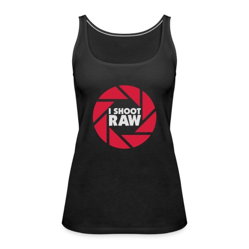 I shoot RAW - weiß - Frauen Premium Tank Top