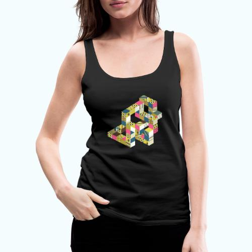 Optical illusion Bright colors - Women's Premium Tank Top