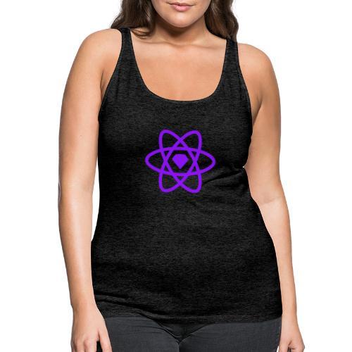 Sketch2React Dark Purple Logo - Women's Premium Tank Top