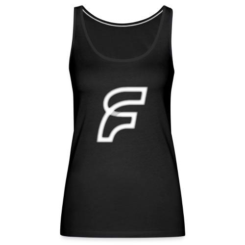 FaMe Icon Weiß + Schrift - Frauen Premium Tank Top