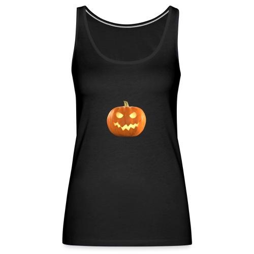 Halloween Pumpkin scary face 8 - Premium singlet for kvinner