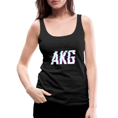 AKG Weiß Glitched - Frauen Premium Tank Top