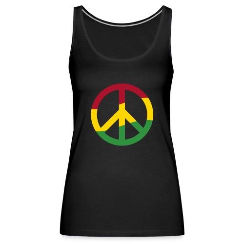 Peacezeichen Rastafari Reggae Musik Frieden Pace - Women's Premium Tank Top