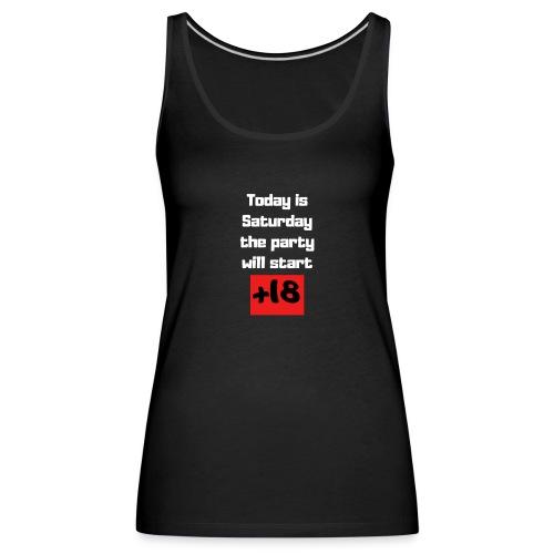 Party - Camiseta de tirantes premium mujer