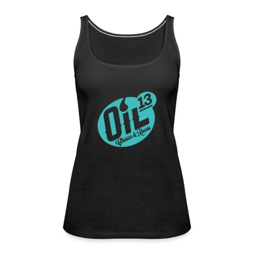 Oil13 Logo Scudo001 transparente azul 001 - Camiseta de tirantes premium mujer