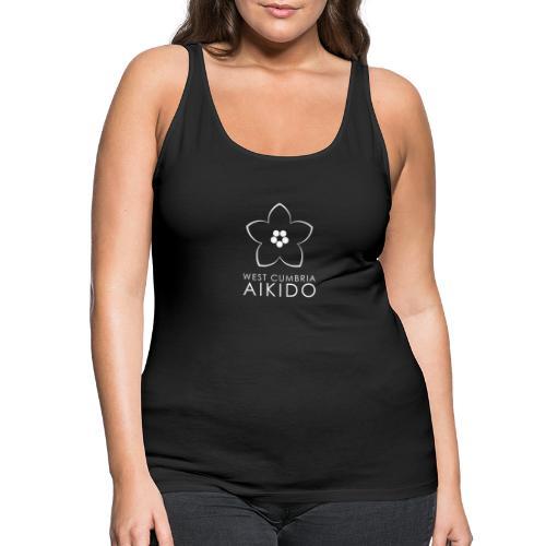 WEST CUMBRIA AIKIDO logo transparent White - Women's Premium Tank Top