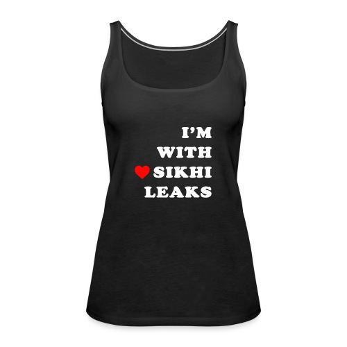 S-L-_I love SikhiLeaks - Women's Premium Tank Top