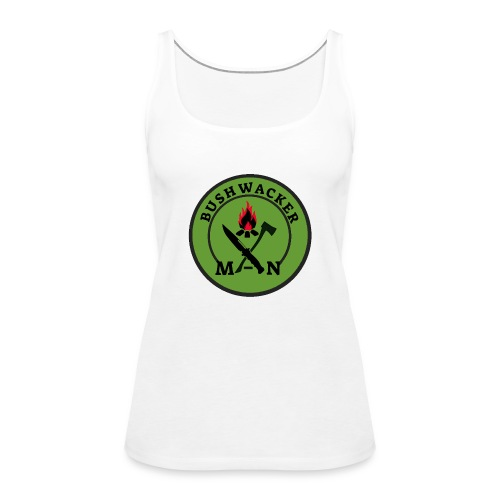 bushwackers logo green - Women's Premium Tank Top