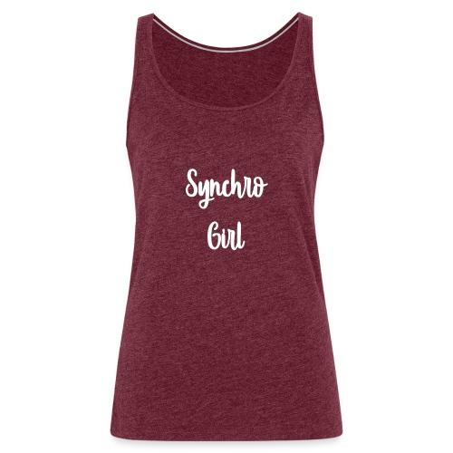 Synchro Girl - Naisten premium hihaton toppi