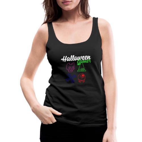 Halloween Gamer Zocken Gaming Controller Shirt - Frauen Premium Tank Top