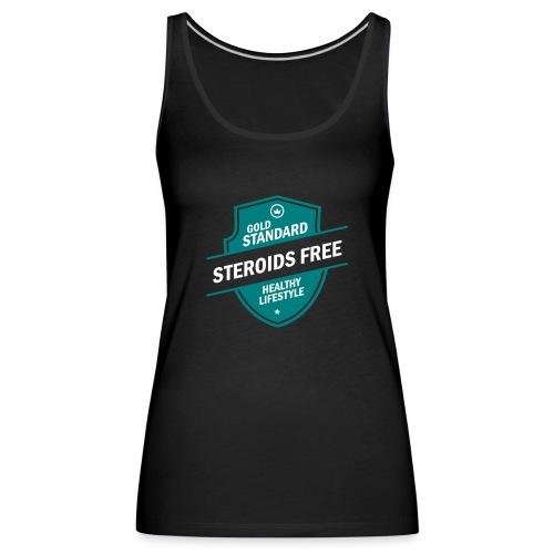 GoldStd-SteroidsFree-33 - Women's Premium Tank Top