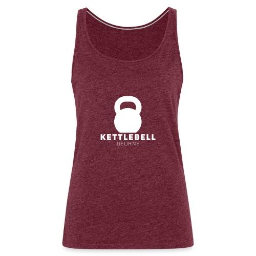 Kettlebell Deurne Wit Logo - Vrouwen Premium tank top