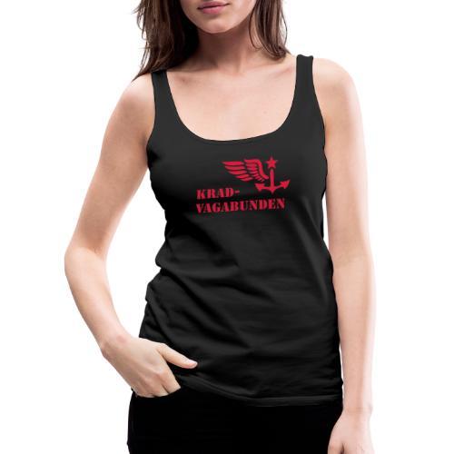 Krad-Vagabunden - Logo + Schriftzug - V2 - Frauen Premium Tank Top