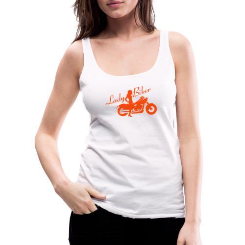Lady Biker - Custom bike - Naisten premium hihaton toppi