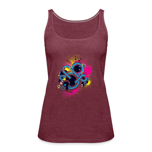 d3scene t shirt design front o by ezacx d3924g1 p - Vrouwen Premium tank top