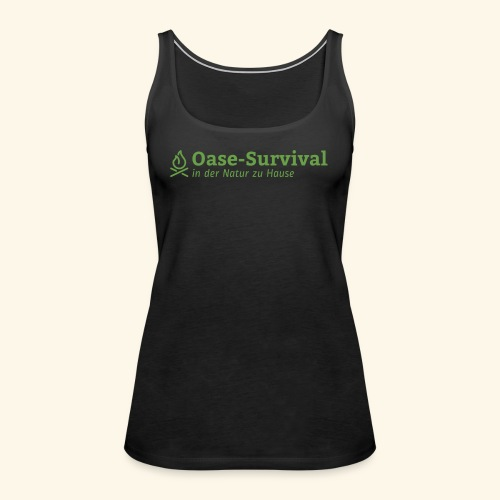 Oase-Survival Logo grün - Frauen Premium Tank Top