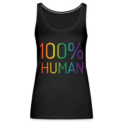 100% Human in regenboog kleuren - Vrouwen Premium tank top