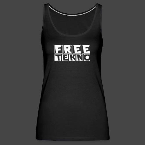 tekno gratuit - Débardeur Premium Femme