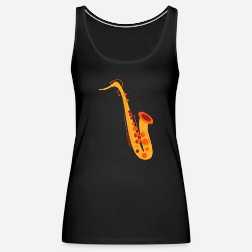 Goldenes Saxophon - Frauen Premium Tank Top
