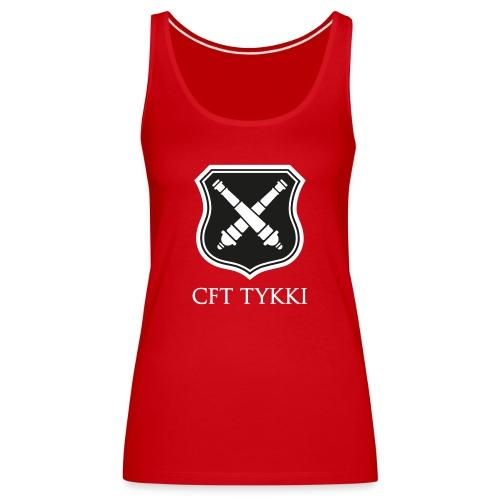 CFT Tykki valk teksti - Naisten premium hihaton toppi