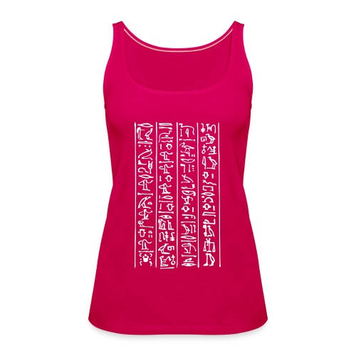 Hieroglyphen - Frauen Premium Tank Top