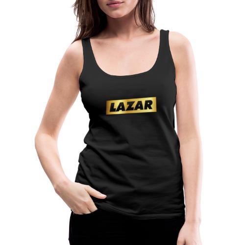00396 Lazar dorado - Camiseta de tirantes premium mujer