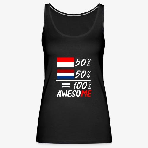 50% Nederland 50% Indonesië - Frauen Premium Tank Top