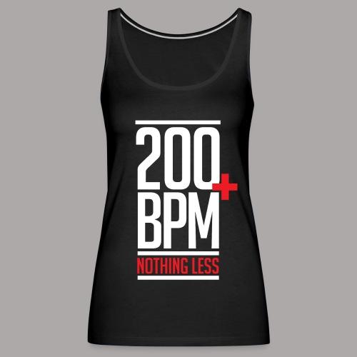 200 BPM Nothing Less White Red - Vrouwen Premium tank top