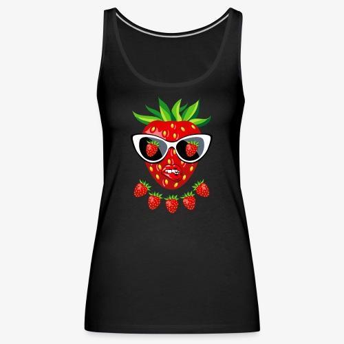 Süße Erdbeere Kussmund Sonnenbrille 23 - Frauen Premium Tank Top