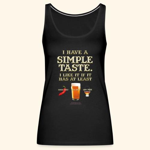 Whisky, Chili, Bier - Frauen Premium Tank Top