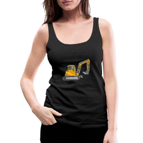 BAGGER, gelbe Baumaschine mit Schaufel und Ketten - Frauen Premium Tank Top