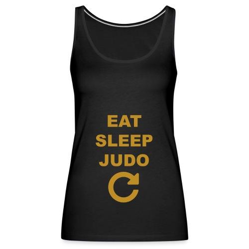 Eat sleep Judo repeat - Tank top damski Premium