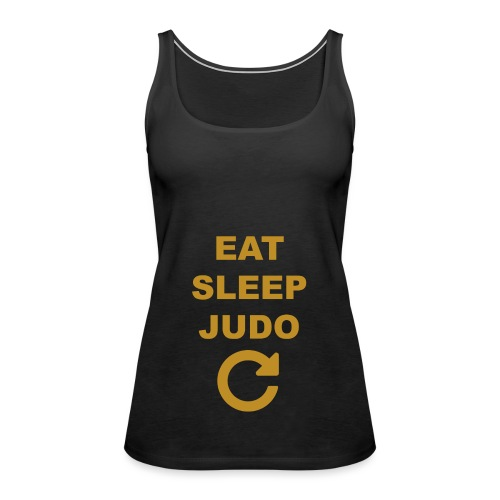 Eat sleep Judo repeat - Tank top damski Premium