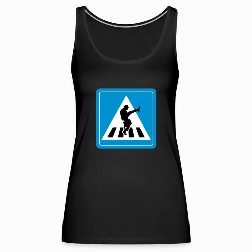 Silly walk zebrapad verkeersbord Zierikzee Zeeland - Vrouwen Premium tank top