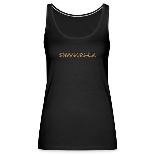 Shangri La goldblau - Frauen Premium Tank Top