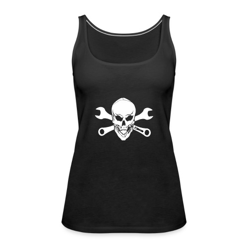 adhd skull - Premiumtanktopp dam