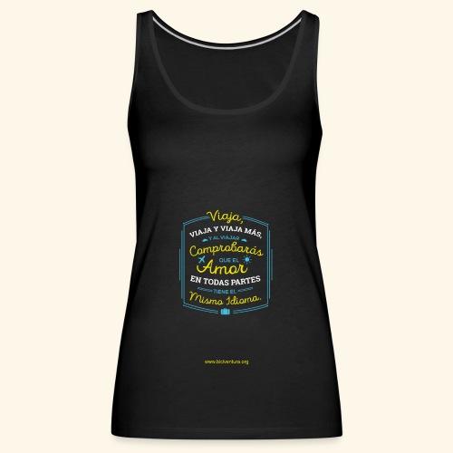 VIAJA - Camiseta de tirantes premium mujer