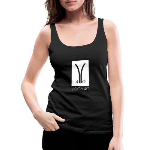Y40 logotipo blanco - Camiseta de tirantes premium mujer