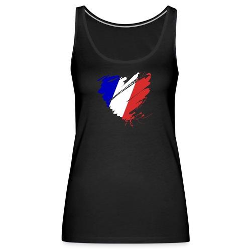 Herz Cœur France Frankreich Grande Nation Rotwein - Women's Premium Tank Top