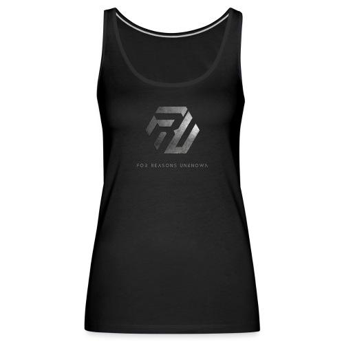 Metall-Logo über Schriftzug - Frauen Premium Tank Top