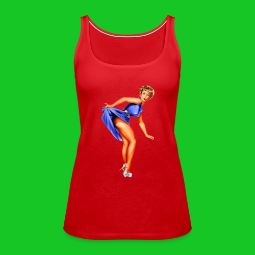 pin up girl 2 - Vrouwen Premium tank top