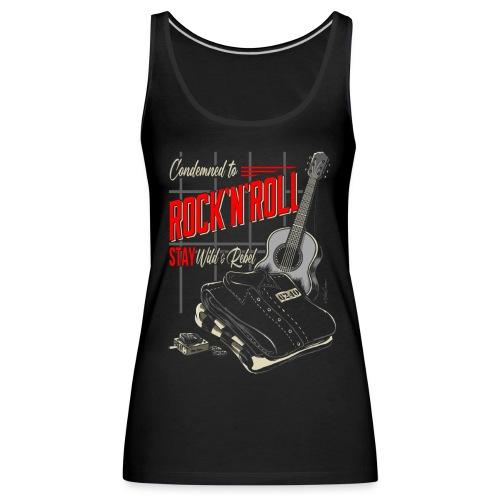 Condenado al Rock and Roll - Camiseta de tirantes premium mujer